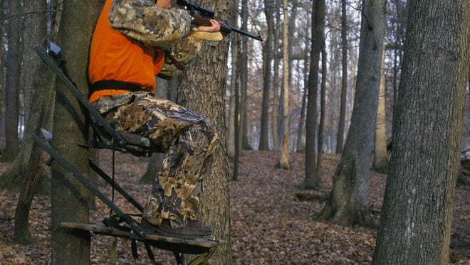 Hunting from elevated stands is very popular and effective. However, safety must always be the hunter's first concern. It's important to make sure all stands, whether wood or metal, are in top condition, and hunters are advised to wear a safety harness when in their stand.