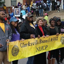 King remembered in march through Clarksville