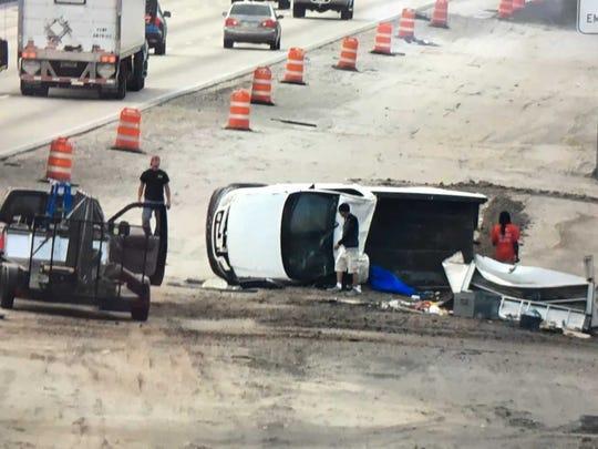 A car crash on I-95 north of Viera has blocked the
