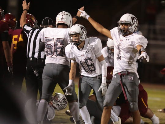 Rancho Mirage and Hillcrest football action on Friday,