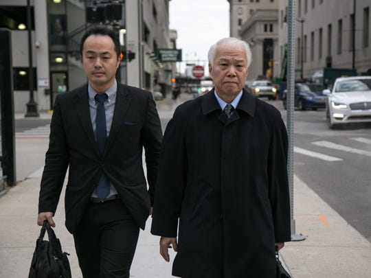 Yoichiro Nomura (right), CFO of Takata Corporation,