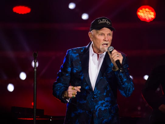 Mike Love of the Beach Boys performs at Celebrity Fight
