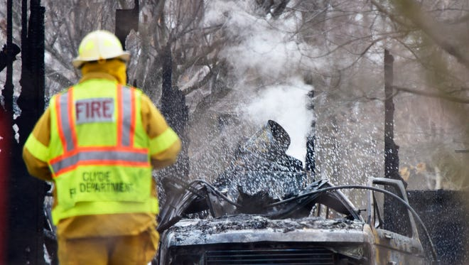 Authorities ruled out foul play in the death of a man found at a house fire in Riley Township on Friday afternoon.