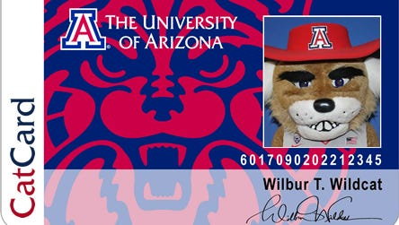 University of Arizona students are issues student IDs called CatCards.