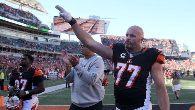 Cincinnati Bengals tackle Andrew Whitworth was named to his third overall Pro Bowl selection in 2017.