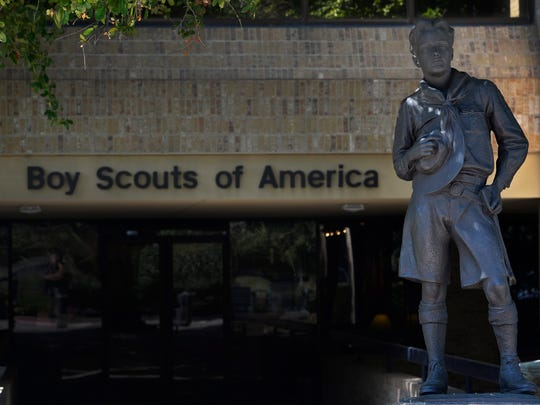 A view of the Boy Scouts of America headquarters in Irving, Texas on July 28.
