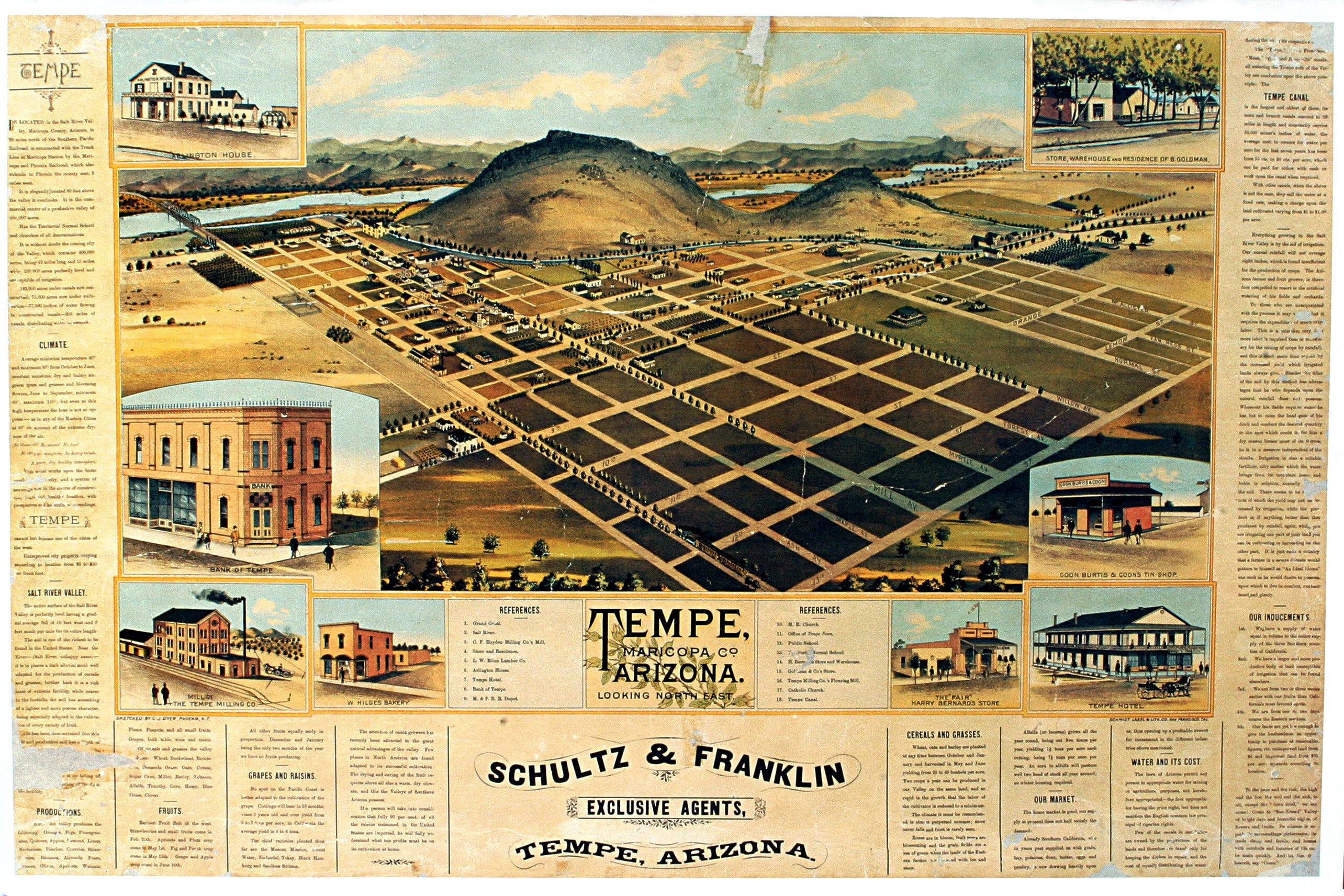 Tempe history Questions on treasured old map get answers from