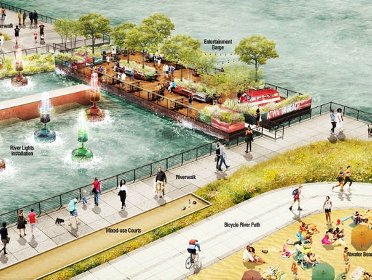 Rendering shows concept of what the Atwater Beach area