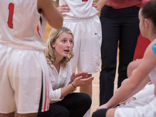 Bucyrus coach Taylor Whitaker has the Lady Redmen off to a great start in her first year.