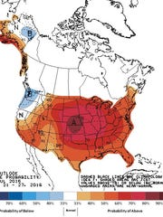 Eight-to-14 day temperature outlook, issued Wednesday,