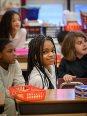 K'myah is one of the students at Ann Visger Elementary School in River Rouge who participated in InsideOut Literary Arts' In School Writer-in-Residence Program, in spring 2018.