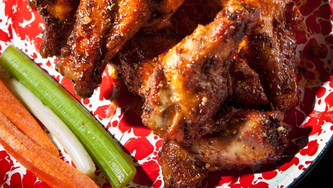 BBQ Rub wings from Jethro's, which has its happy hour 4-6 p.m. Monday-Friday.