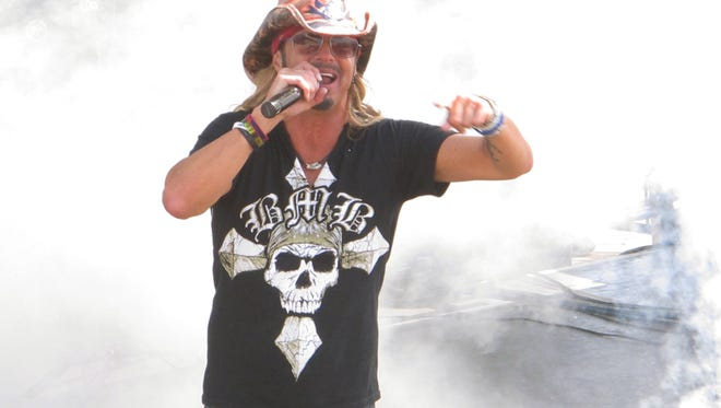 Bret Michaels performs at a free concert on the Seaside Heights boardwalk on Friday, one of many events around the Jersey shore to mark the unofficial start of summer.