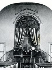 An interior view after major renovation in 1845.