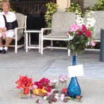 Memorial set up for woman who jumped out of St. Pete apartment. Her body was mistaken for April Fools' joke and discarded in a dumpster.