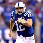 Andrew Luck takes on Tom Brady on his home turf with a trip to the AFC championship game on the line.