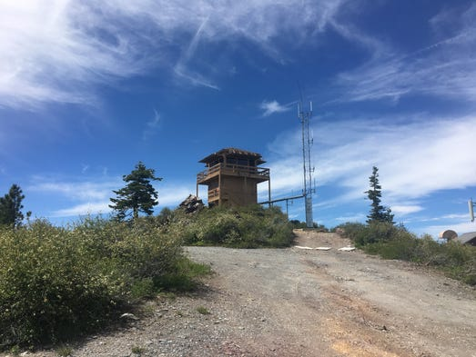 Fire tower on peak of Mt. Hough