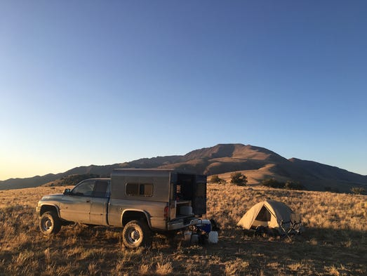 Camping at the trailhead. The Mt. Jefferson trailhead