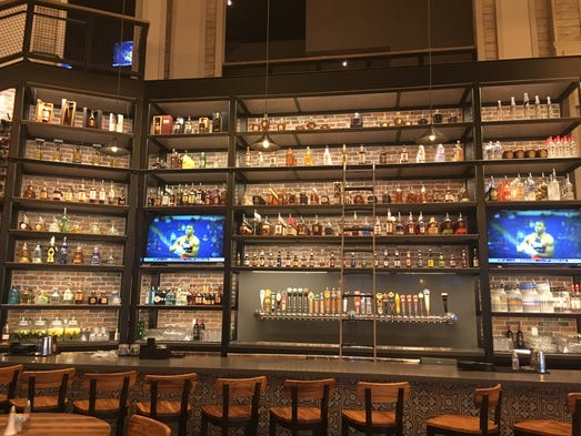 Library bar towers over guests at Riverview Restaurant