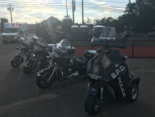 Bloomfield Police Department vehicles are out on display