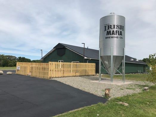 Exterior view of Bloomfield's Irish Mafia Brewing,