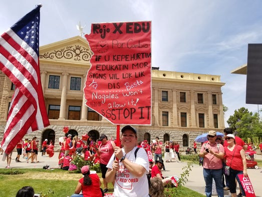 Protesters rally at the state Capitol on April 26,