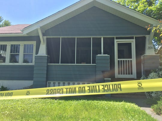 Pamela Courtnage's home was still encircled with police tape Tuesday morning following her arrest in Missoula County on  a deliberate homicide charge.