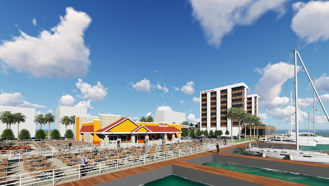This artist's rendering depicts the $30 million Riverwalk Marina project, slated for construction at the former Intracoastal Marina-Coral Bay site in Melbourne.
