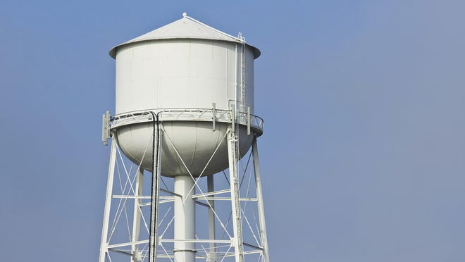 A Verizon cell phone tower being constructed in Yerington will be disguised to look like a water tower.
