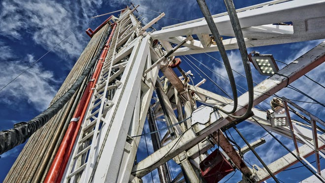 A gas drilling rig