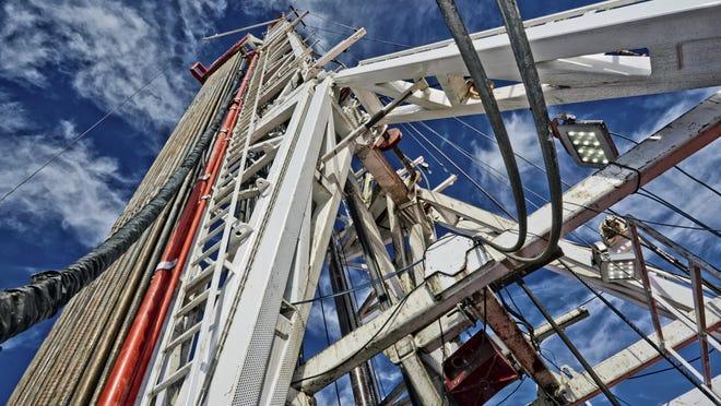 Fracking Rig, Close-Up
