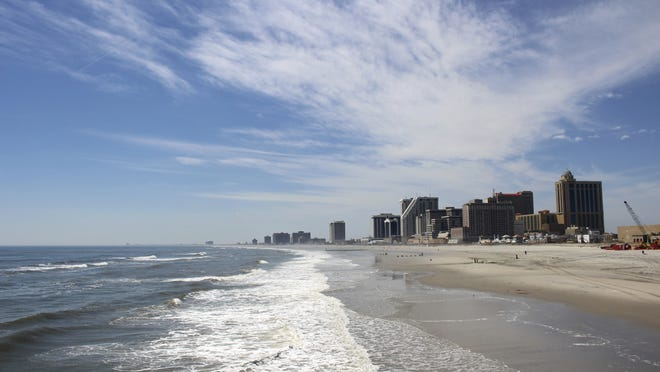 FILE - Atlantic City Beach