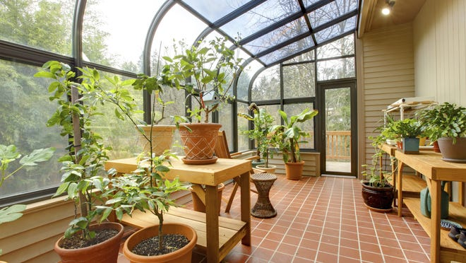 Green houses are great for starting plants to be planted outside later.
