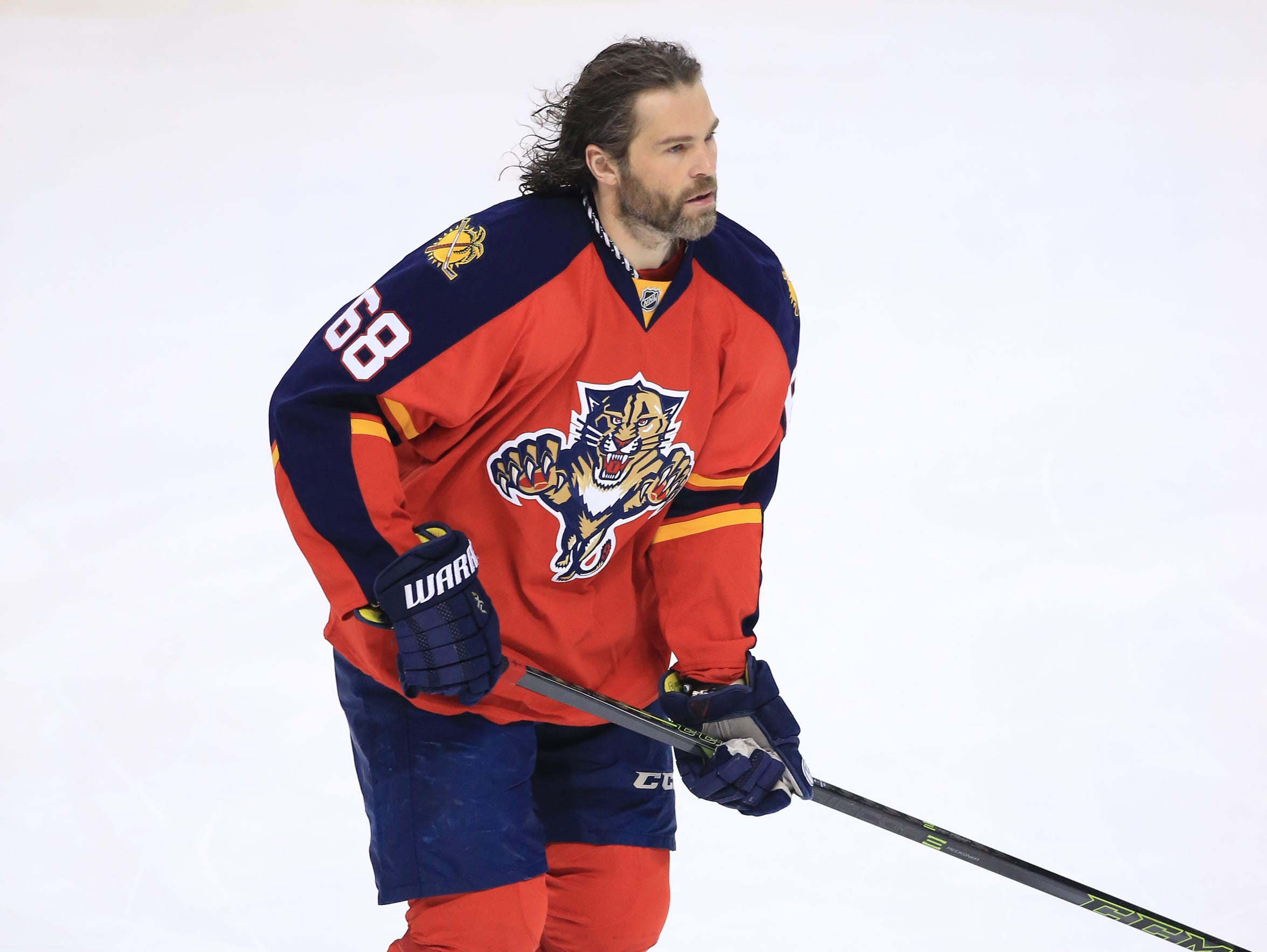 Florida Panthers winger Jaromir Jagr will turn 45 years