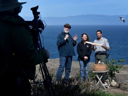 Archaeologist Steve Schwartz, historian Sara Schwebel and Ranger Dave Begun talked with students on live video stream from San Nicolas earlier this year.