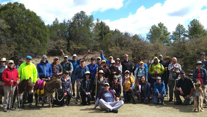 "This year's Grant County Trails Group hike, in conjunction with the CDT Trail Days celebration, had more than twice the participants. Hikers also enjoyed a ""gear demo"" event put on by the Trail Days sponsors, including Vasque footwear, who gave away about 60 pairs of hiking boots at the event."