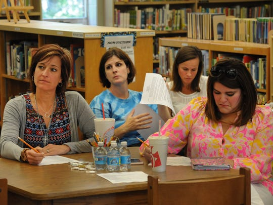 PTA members discuss Field Day at South Highlands Elementary
