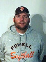 Powell High softball coach Jeff Inman.
