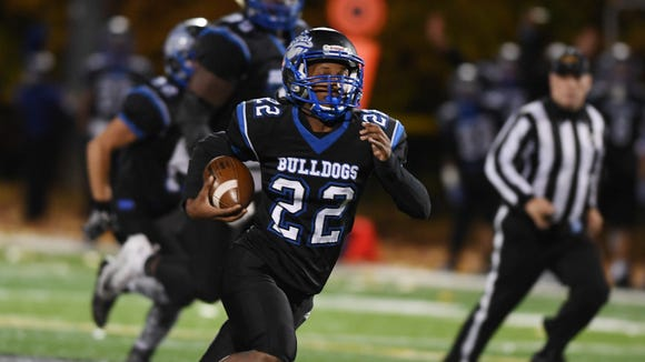 Passaic Tech running back Rahzik Starr ran for 106 yards in the first round of the playoffs.  The Bulldogs are trying to win their second straight North 1, Group 5 championship.