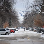 Many cars are parked along the West Myrtle Street in the University North neighborhood February 5, 2016. University North will be the fifth neighborhood to implement the residential parking-program.