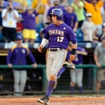 LSU's Jared Foster homered in a loss to Kentucky on Sunday.