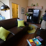 Guests visit the clubhouse building of The Annex of Richmond during an open house Wednesday.