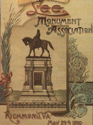 Cover of the souvenir program for the Lee Monument unveiling, May 29, 1890.