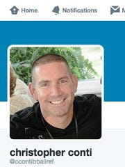 Clarkstown school board trustee Christopher Conti, as pictured on his Twitter profile.