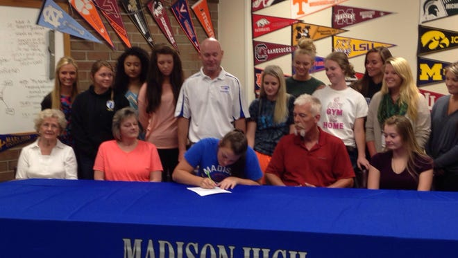 Madison senior Lexi Ammons has signed to play college basketball for Lees-McRae.