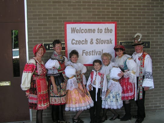 Performers in ethnic costumes will help re-create life in Czech and Slovak villages at this year's Czech and Slovak Festival.