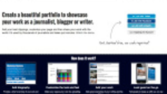 Screenshot of Clippings.me website.