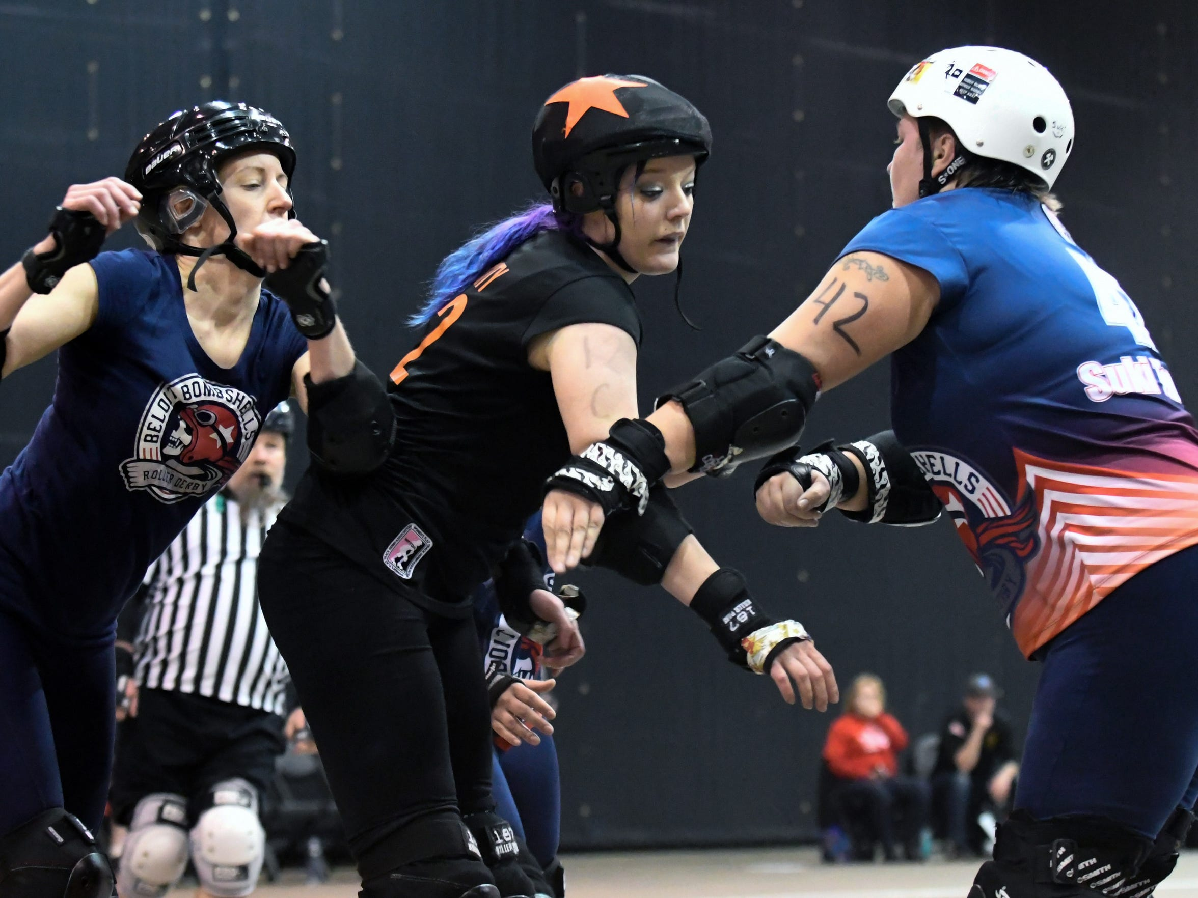 Cynthia 'Cyn City' Rink is a jammer for the Battle Creek Cereal Killers Roller Derby Team.