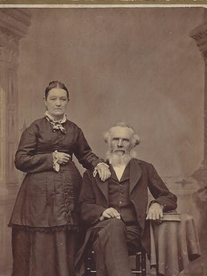 Lamar County Judge Francis Miles and wife, Martha Tudor Miles poses for an official photo, circa 1862.