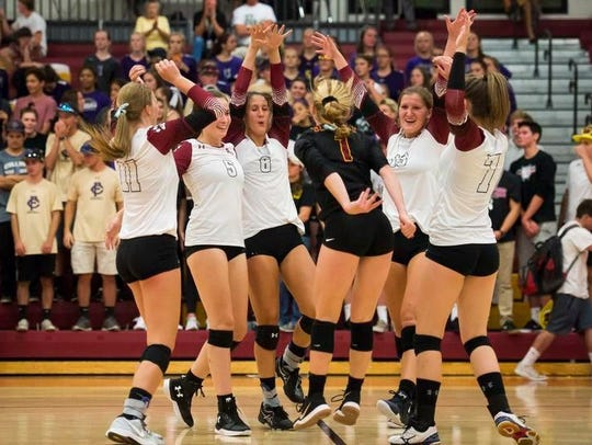 The Rocky Mountain volleyball team is one of three